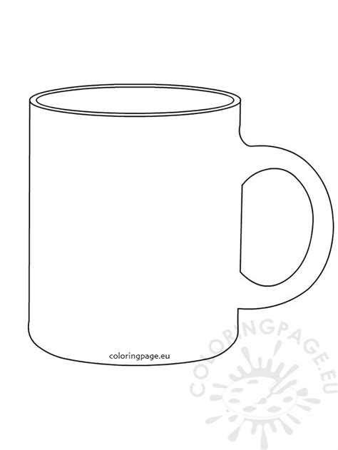 Coffee Mug Template Coloring Page Coffee Mug Template