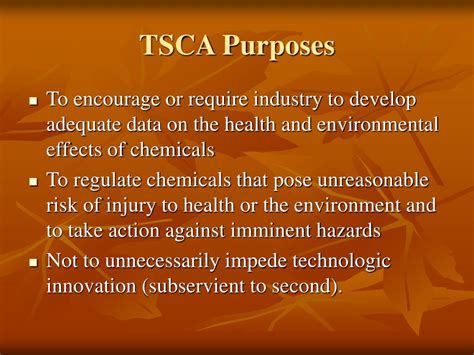 tsca section 8 ppt introduction to tsca powerpoint presentation id 367631