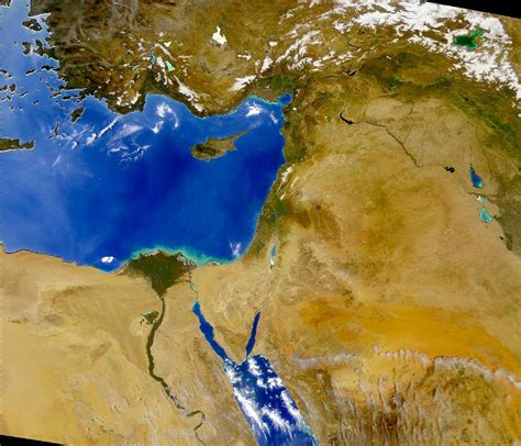 satellite map of middle east lesson home page