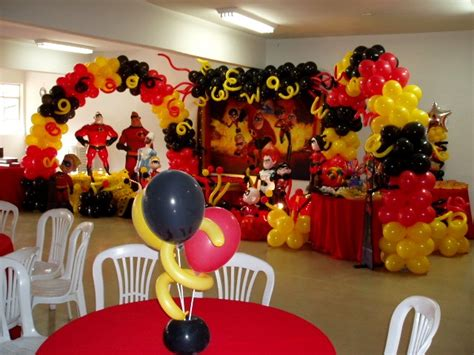 Table Decoration Ideas For Birthday Party by Balloons Decor The Incredibles Kids Party Party Birthday