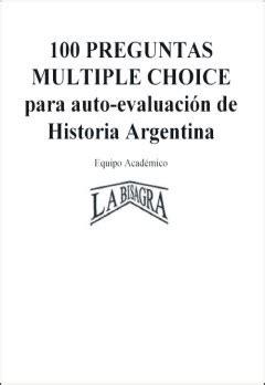 preguntas de historia argentina multiple choice e libro net tienda de ebooks