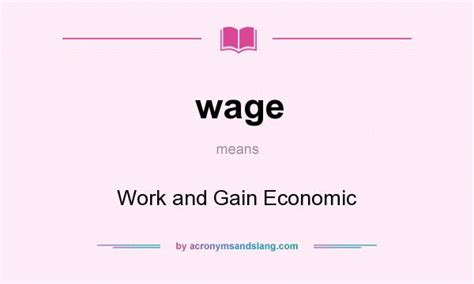wage meaning wage work and gain economic in undefined by