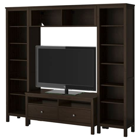 hemnes tv storage combination black brown ikea