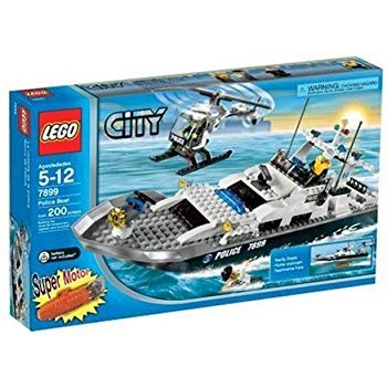 lego city fishing boat 60147 creative play toy lego police boat 7287 toys games