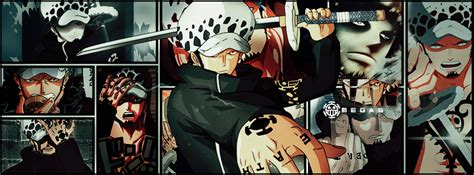fb one piece law fb cover manga style by omegas82128 on deviantart