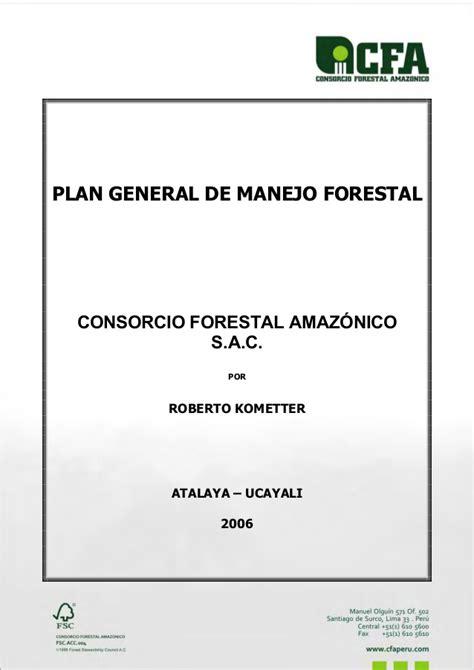 que es manejo de layout plan de manejo forestal