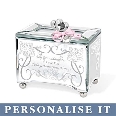 gifts for granddaughters personalised glass granddaughter melody box my
