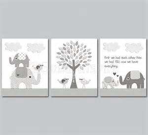 Boys Bedroom Painting Ideas grey elephant nursery art print set 8x10 kids room decor