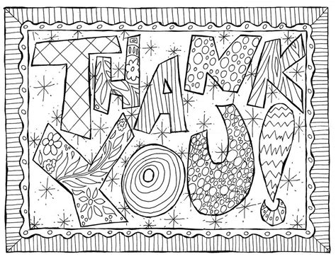 doodle thank you card colorable a printable jpg file by