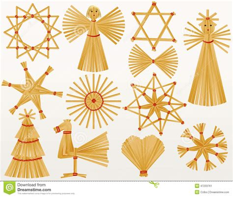 decorative ornaments for the home christmas straw decorations stock vector image 47233761