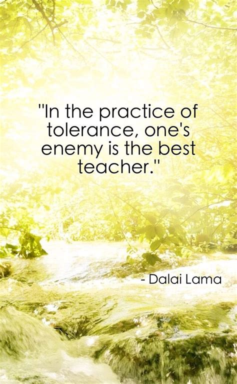 tolerance quotes in the practice of tolerance one s enemy is the best