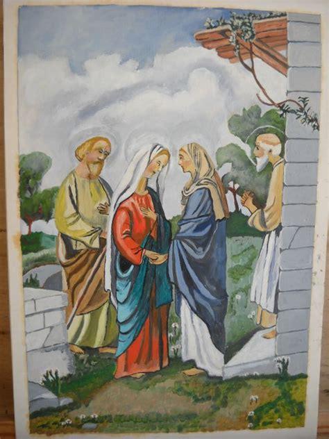 imagen de la virgen maria visitando a su prima isabel visita de la virgen maria a su prima santa isabel gonzalo
