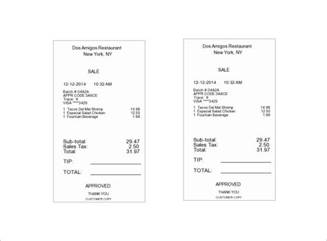 fast food receipt template food receipt template smdlab invoice