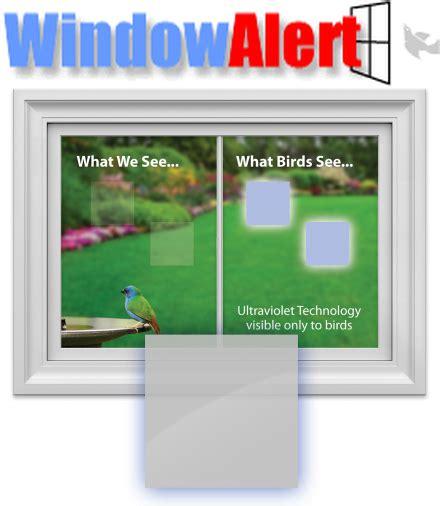 window alert bird collision decals square 8 pack