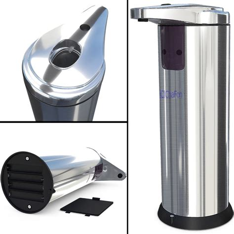 Dispenser Sabun stainless steel sensor automatic soap dispenser sabun otomatis silver jakartanotebook