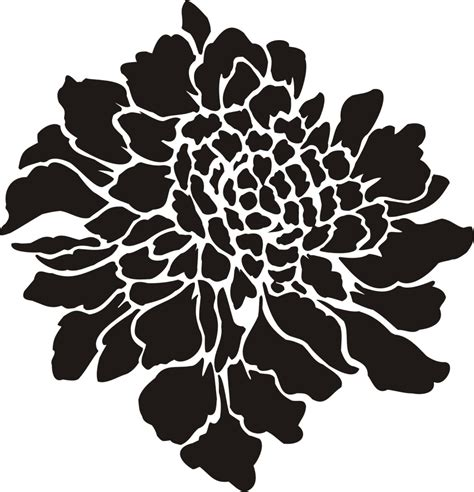 and stencils painting stencil large scabiosa flower walls stencils