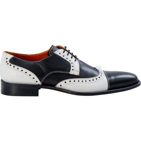 karl black and white wingtip spectators paolo shoes