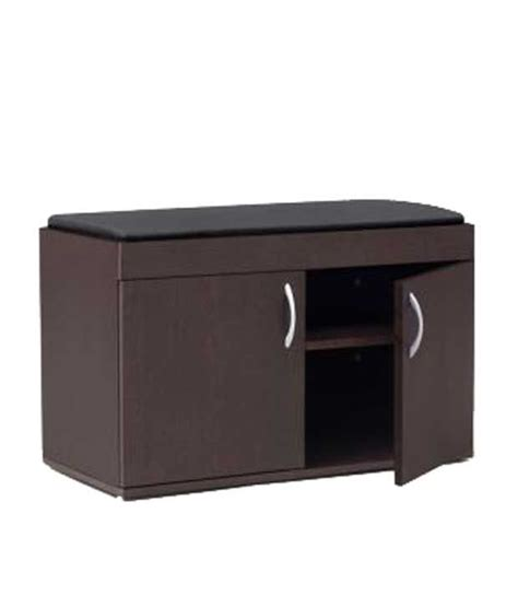 shoe storage cabinet with seat shoe rack cabinet with cushion seat in finish