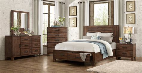 Distressed Wood Bedroom Furniture | homelegance brazoria bedroom set distressed natural wood