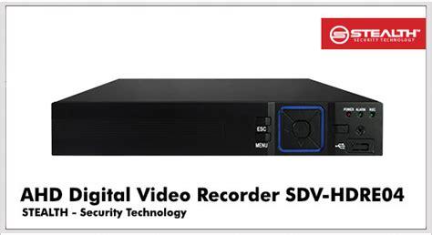 Kamera Cctv 4 Channel Stealth 4 Spc 2 Megapixel stealth ahd dvr 4ch 720p sdv hdre04
