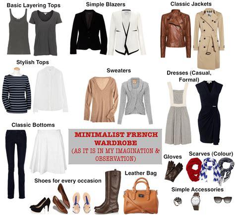 french women 10 item wardrobe minimalist french clothing for women