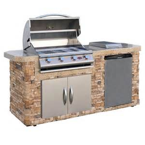 home depot grill cal 7 ft grill island with 4 burner stainless