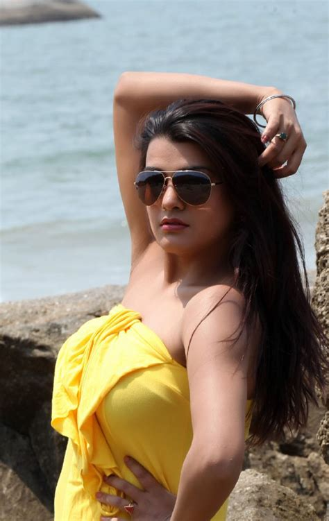 hot photos from goa beach tashu kaushik s hot photoshoot in yellow gown at a beach