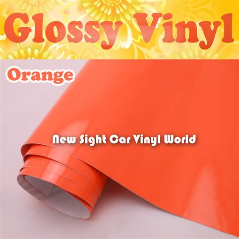 buy wholesale vinyl decal rolls from china vinyl aliexpress buy wholesale price glossy orange color