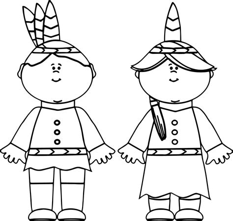 native american boy and girl coloring page fun coloring