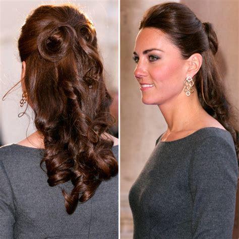 half up half down hairstyles kate middleton half up half down popsugar celebrity uk