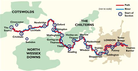 river thames towpath map thames path surrey