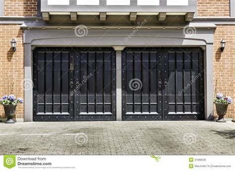 two car wooden garage royalty free stock photo image