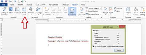 Microsoft Office Di Indonesia menghitung jumlah kata dalam satu cell di excel