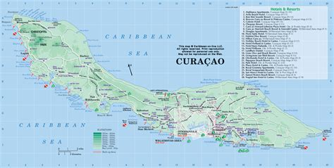 Printable Curacao Road Map | curacao map map of curacao