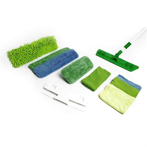 Kitchen Knives Set Quick Clean N Green Microfiber Mop And Cloth Deluxe Set