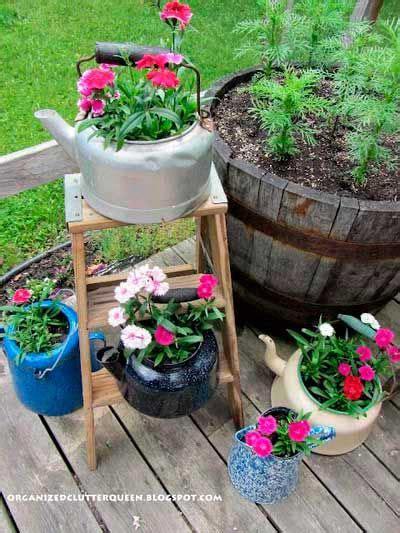 imagenes de jardines con reciclado 17 mejores ideas sobre maceteros reciclados en pinterest