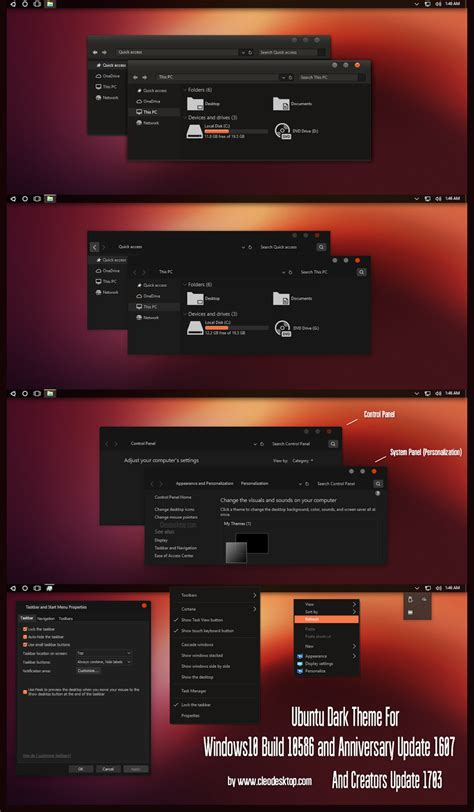 themes for windows 10 1703 ubuntu dark theme windows10 creators update 1703