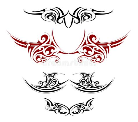 body tattoo vector body art tattoo stock vector image 44592866