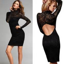 Backless hollow out party elegant bodycon dress china mainland