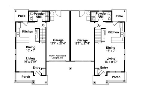 duplex plans cottage house plans philipsburg 60 030 associated designs