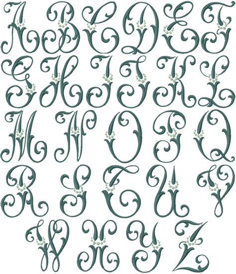 caroline machine embroidery font
