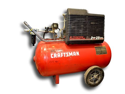 used sears craftsman 2 hp 25 gallon air compressor coast machinery