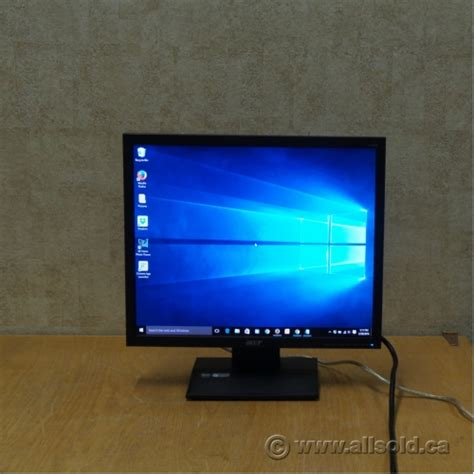 Monitor Lcd Acer 19 Inch acer v193 19 inch 4 3 lcd pc computer monitor allsold ca buy sell used office furniture