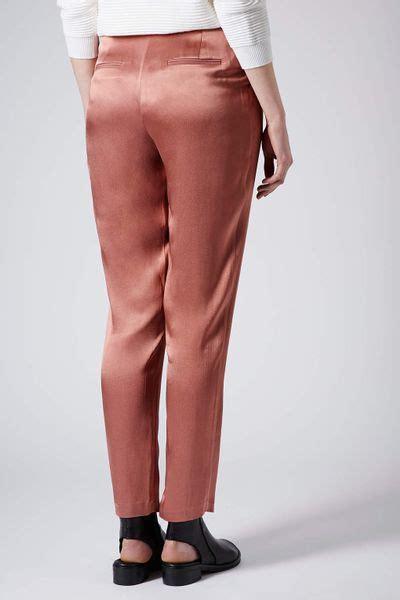 Segi4 Satin Jumbo 1 topshop satin trousers in pink lyst