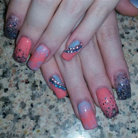 colourful acrylic nail art designs ideas design