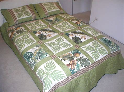 Hawaiian Quilt Bedding by Sz Hawaiian Patchwork Quilt Hawaii Bedding Comforter 2 Shams Ebay