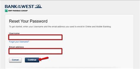 reset westpac online banking password bank of the west online banking login cc bank