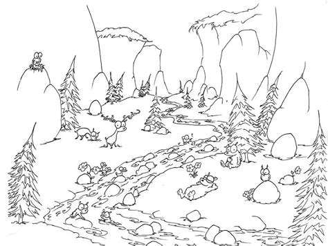 free coloring pages of nature scene