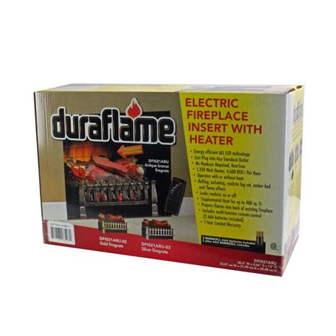 duraflame electric fireplace led log insert w 1350w