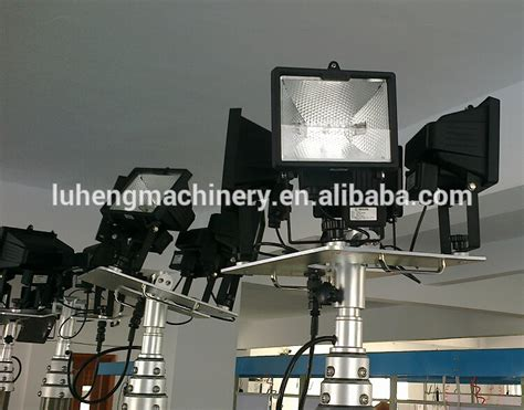 night scan light tower telescopic mast battery powered night scan trailer